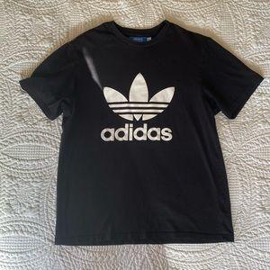 Adidas Black and White Logo Tee NWOT